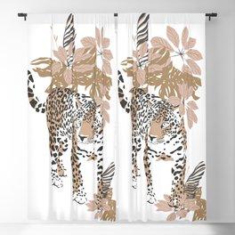 Magic Jungle Composition Leopard Blackout Curtain