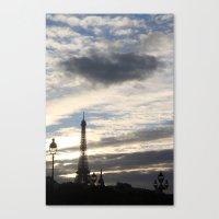 eiffel tower Canvas Prints featuring Eiffel Tower by Ellen Wappett