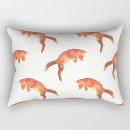 Pouncing Fox Rectangular Pillow