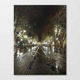 tram tracks in Marseille Canvas Print