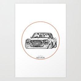Crazy Car Art 0002 Art Print