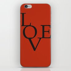 LOVE RED iPhone & iPod Skin