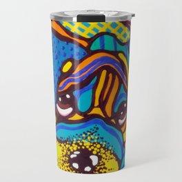 Bashful Dog Puppy Design Kids Fun Colorful Pug Bulldog Boxer Travel Mug