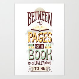 Between pages Art Print