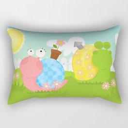 Snails Rectangular Pillow