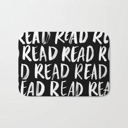 Read, Read, Read (Black) Bath Mat