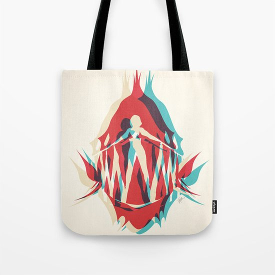 Piranha Girl Tote Bag