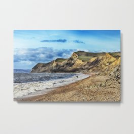 Coastline Cliffs Metal Print
