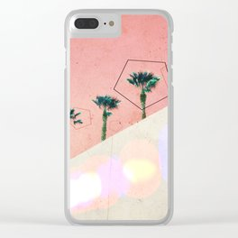 Levitated Mass (Red) Clear iPhone Case
