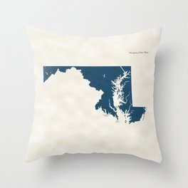 Maryland Parks - v2 Throw Pillow