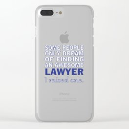 LAWYER'S DAD Clear iPhone Case