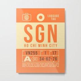 Luggage Tag B - SGN Ho Chi Minh City Vietnam Metal Print