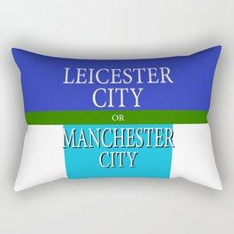 LEICESTER CITY or MANCESTER CITY Rectangular Pillow