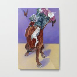 Hazel the Princess Boxer Girl Metal Print