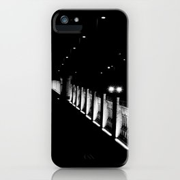 Bridge, Lights, Moon in low key - Fine Art Photography iPhone Case