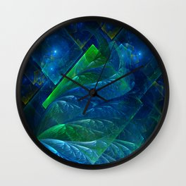 Sea Glass 3D Flame Fractal Wall Clock