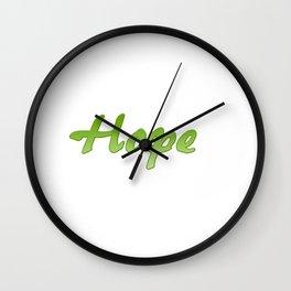 Inspiration Words...Hope Wall Clock