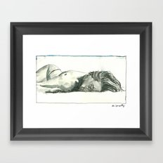 Laia Sleeps Framed Art Print