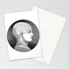 Vintage Phrenology Head Stationery Cards