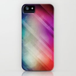 Vivid - Colorful Geometric Mountains Texture Pattern iPhone Case