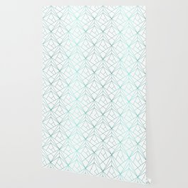 Geometric Turquoise Pattern Wallpaper