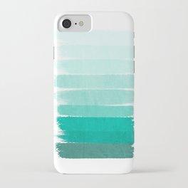 Ombre - Brushstroke Green/Blue Ocean Ombre, girly trend, dorm decor, cell phone, beach, summer,  iPhone Case