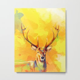 Forest King - Deer painting Metal Print