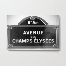 Avenue des Champs Elysees in Paris Metal Print