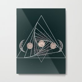 Moon Matrix Metal Print