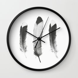 Feathers Sketch Wall Clock