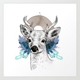 The Deer (Spirit Animal) Art Print