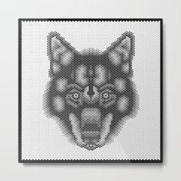 Hex: Lobo Ibérico Metal Print