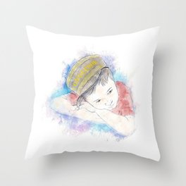 Little Conductor Throw Pillow