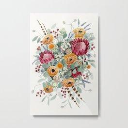 Fall Protea Bouquet Metal Print