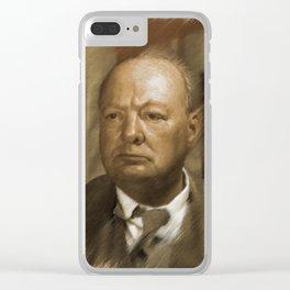 Winston Churchill Clear iPhone Case