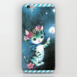 Space Witch Cat handcut collage iPhone Skin