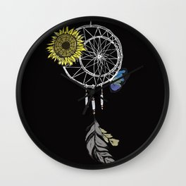 Dream Catcher with Color Wall Clock