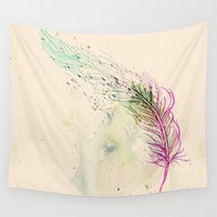 breathe Wall Tapestries featuring Breathe  by rskinner1122