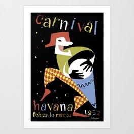 Carnival Havana Cuba - Vintage Travel Art Print