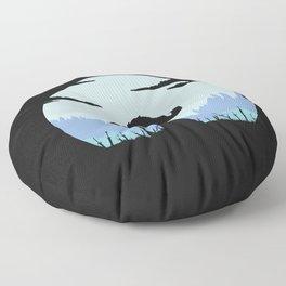Grey Wolf Sif (Dark Souls) - in black Floor Pillow