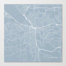 Syracuse Map, USA - Slate Canvas Print