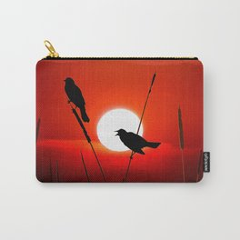 Blackbirds On Red Sunset. Carry-All Pouch