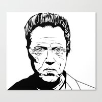 christopher walken Canvas Prints featuring Christopher Walken by Sheena White for Winsome Gallery