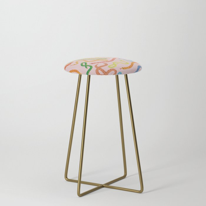 Snakes_and_Frogs_Counter_Stool_by_Lorien_Stern__Gold