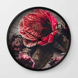 "Abutilon Decay ""Red Tiger"" Wall Clock"