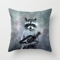 gangster Throw Pillows featuring Gangster by ppatphoto