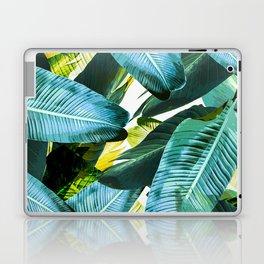 Banana leaf, tropical, Hawai, leaves, greens, palm leaves, outdoors, beach decor Laptop & iPad Skin