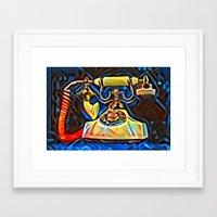 kandinsky Framed Art Prints featuring Calling Kandinsky by Detailicious
