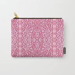 Tribal motif in pink Carry-All Pouch