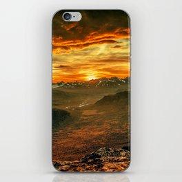 Mountains Ablaze iPhone Skin